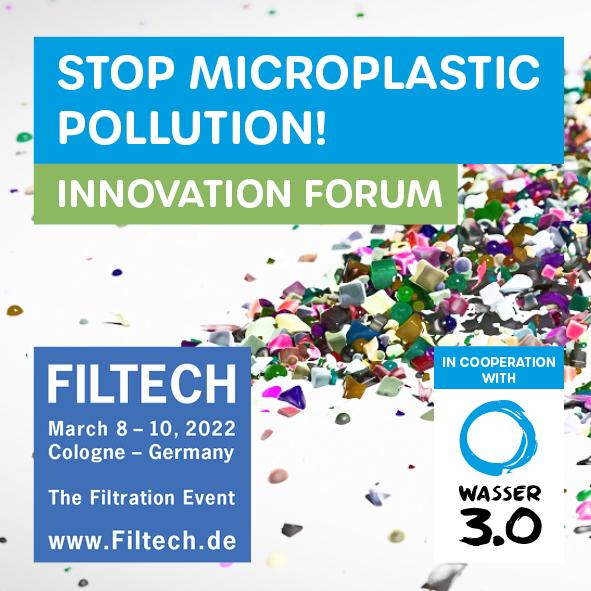 Filtech 2022 - STOP MIKROPLASTI POLLUTION - Innovationsforum