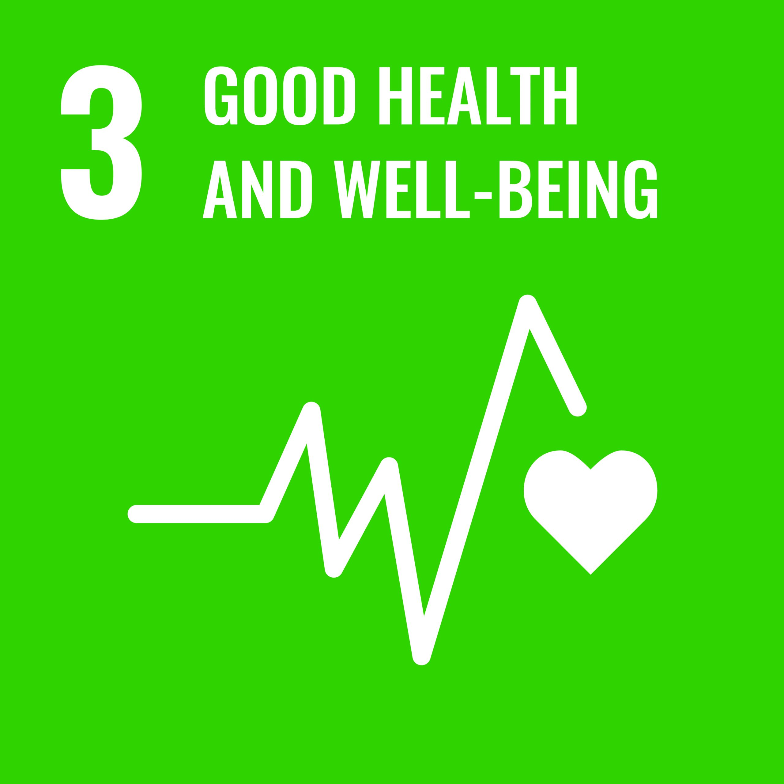 Good health and wellbeing - SDG 3
