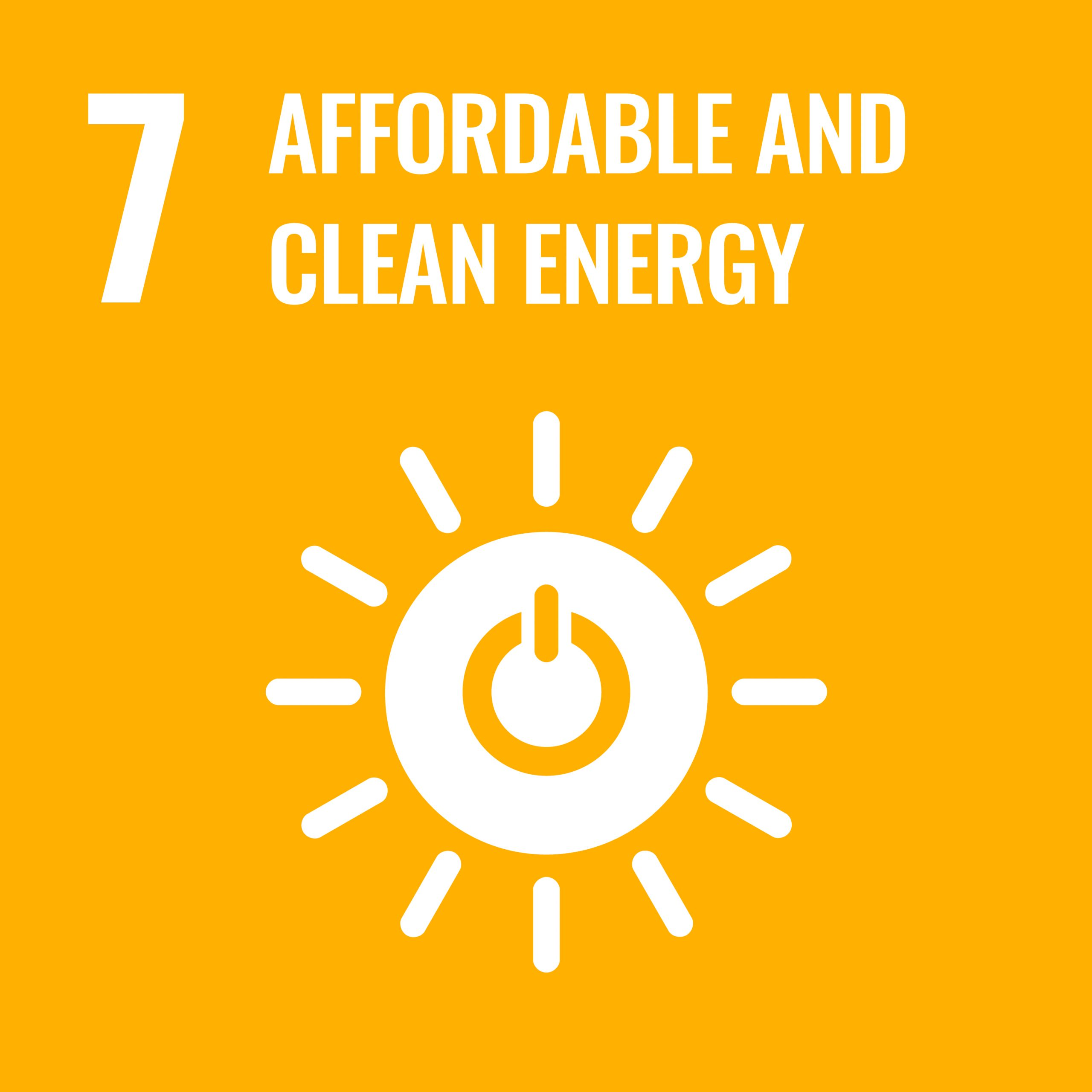 Affordable and clean energy - SDG 7