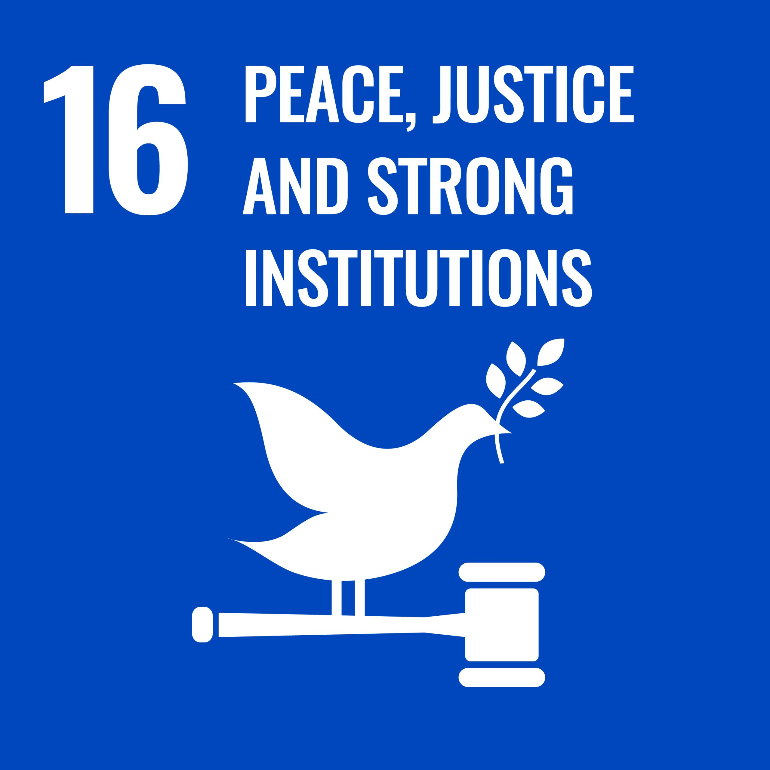 Peace Justice and Strong institutions - SDG 16