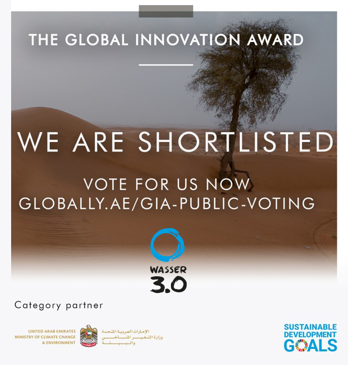 We are shortlisted for the Global innovation Award 2021