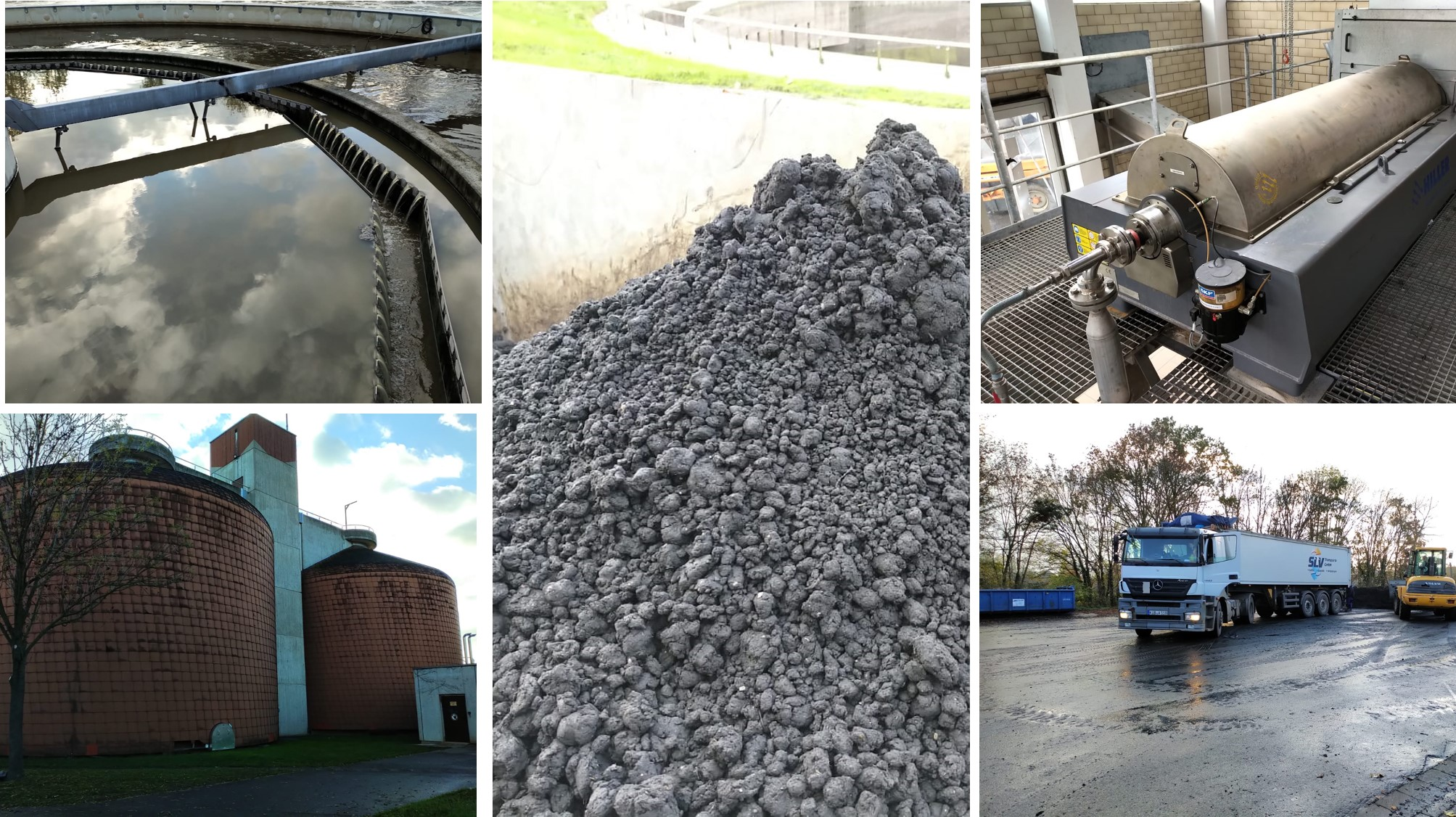 Sludge treatment in a wastewater treatment plant in Germany. Microplastics and micropollutants pollute our process sludges and prevent efficient reuse and recycling.