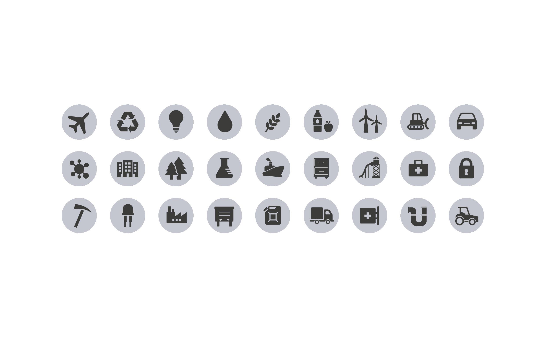 Eine Vielzahl von Produkte aus Kunststoffen
