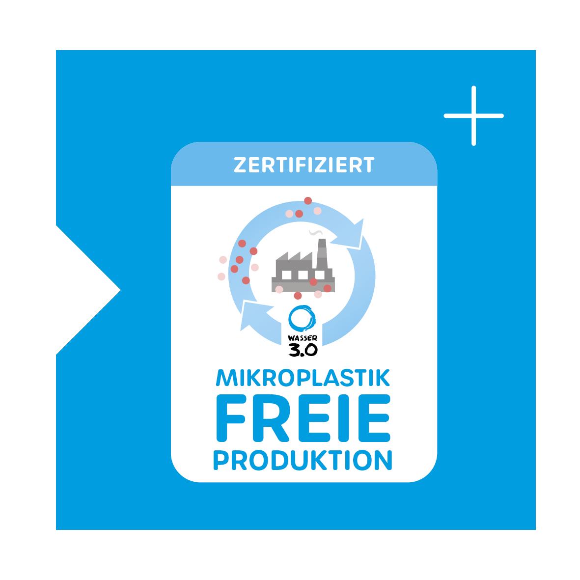 Das Zertifikat für die Mikroplastikfreie Produktion