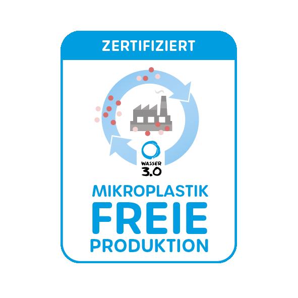Mikroplastikfreie Produktion Zertifikat