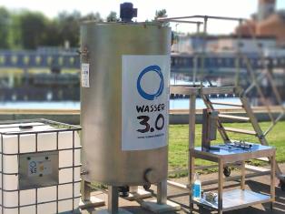 Unser Technikumsreaktor steht auf einer kommunalen Kläranlage in Deutschland