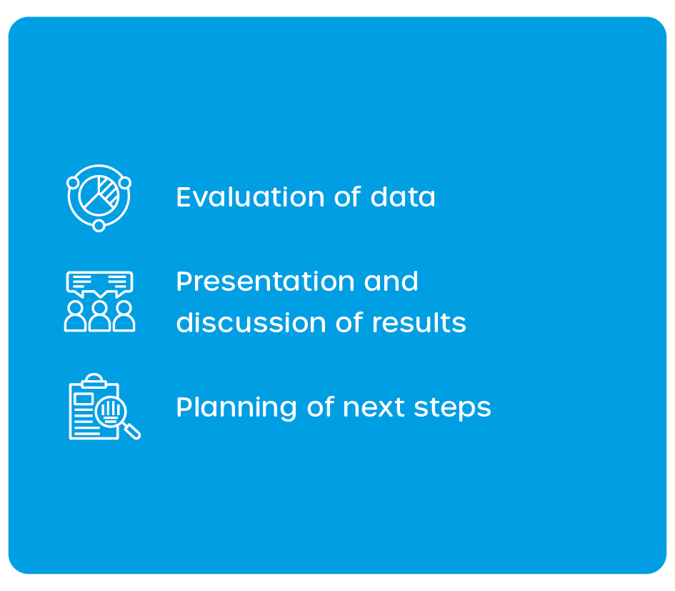 Step 3: Analysis of data and planning the next steps to clean water worldwide and your pilot trials.